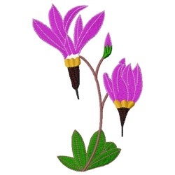 Shooting Star Flower embroidery design