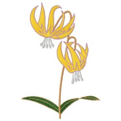Glacier Lily embroidery design