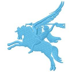 Pegasus & Rider embroidery design
