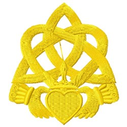 Celtic Claddagh embroidery design