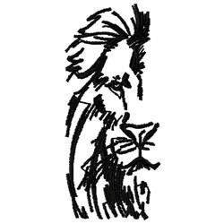 Half Lions Head embroidery design