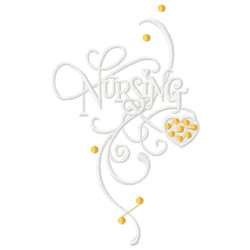 Nursing embroidery design