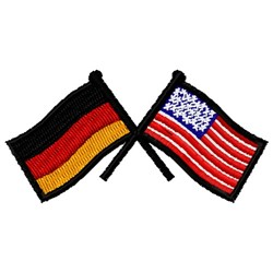 German & USA Flags embroidery design
