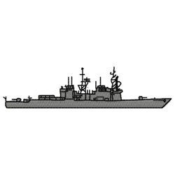 Spruance Class Ship embroidery design