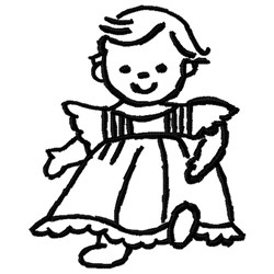 Outline Girl embroidery design