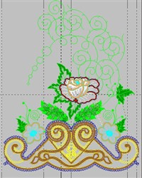 Bed Sheet Decor embroidery design