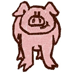 Pink Pig Front embroidery design