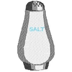 Salt Shaker embroidery design