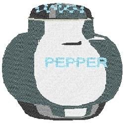 Pepper Shaker embroidery design