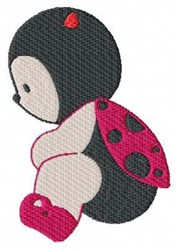 Ladybug Girl embroidery design