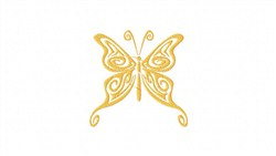 Tribal Buttefly embroidery design