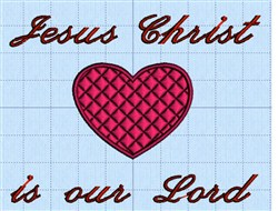 Jesus is Our Lord embroidery design