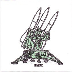 Hawk Missile embroidery design