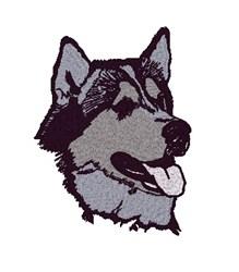 Husky Head embroidery design