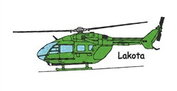 Lakota Helicopter embroidery design