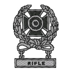 Expert Rifle Medal embroidery design