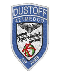DUSTOFF Patch embroidery design