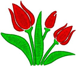 Three Tulips embroidery design