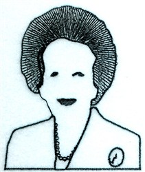 Iron Lady embroidery design