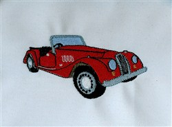 Morgan Classic Car embroidery design
