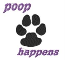 Poop Happens embroidery design