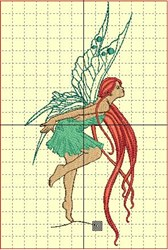 Red-Haired Fairy embroidery design