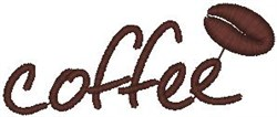 Coffee Bean embroidery design