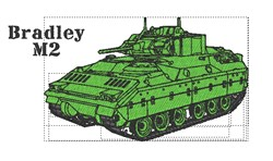 Bradley M2 embroidery design