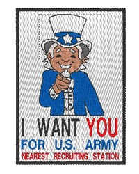 Young Uncle Sam embroidery design