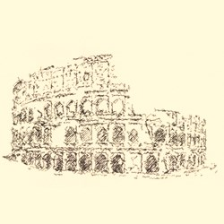Colosseum embroidery design