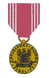 Good Conduct Medal embroidery design