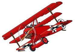 Fokker DR1 Red Baron embroidery design