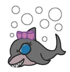 Shark Girl embroidery design