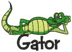 Gator embroidery design