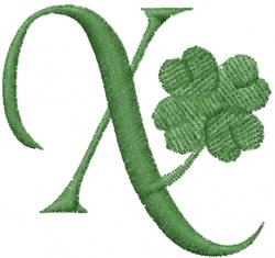 Shamrock ABC embroidery design