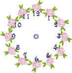 Rose Clock embroidery design