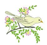Bird on Tree embroidery design