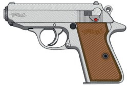 Walther PPK embroidery design