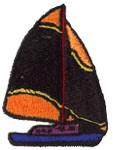 Sailing embroidery design