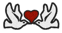 Heart and Birds embroidery design