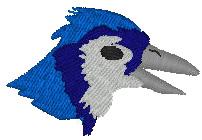 Bluejays Head embroidery design