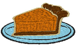 Pumpkin Pie Slice embroidery design
