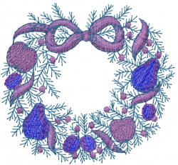 Fruit Wreath embroidery design