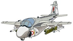 A-6E Plane embroidery design