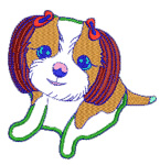 Cute Dog embroidery design