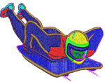 Luge embroidery design