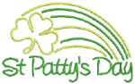 St. Patrciks embroidery design