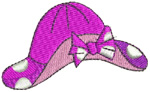 Polka Dot Hat embroidery design