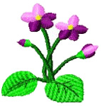 Violet embroidery design