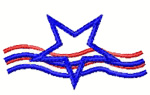 Stars and Stripes embroidery design